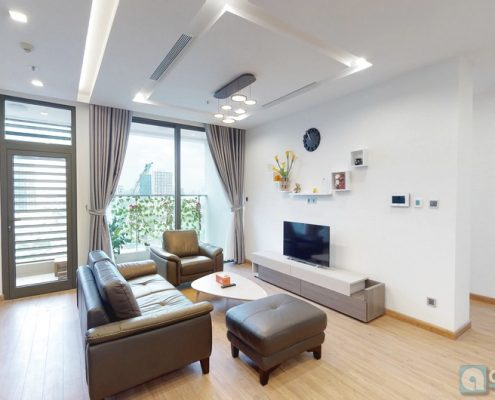 Partly furnished apartment for rent in Vinhomes Metropolis 3